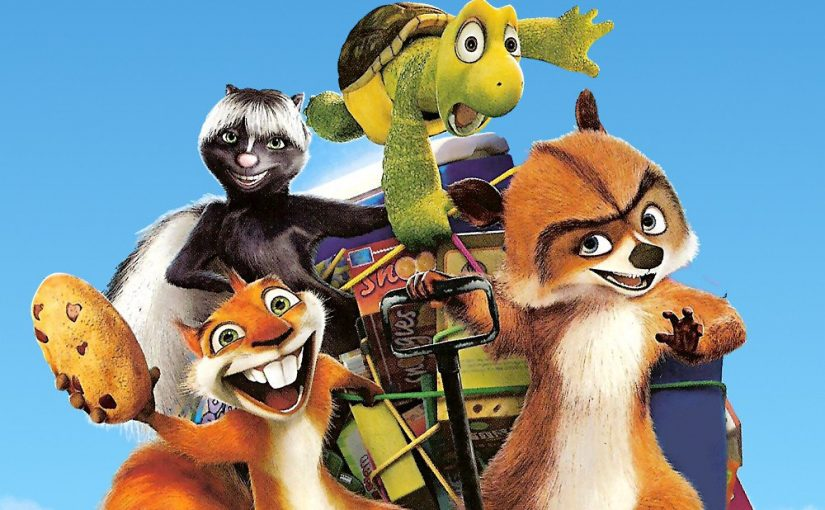"Poster for the movie ""Over the Hedge"""
